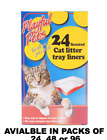 CAT LITTER TRAY LINERS - EASY PET WASTE DISPOSAL IN HYGIENIC WAY 24 BAGS 1 PACK