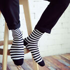 Fashion Unisex Casual Cotton Socks Black and White Striped Mens Women