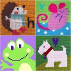 Kids/Beginners Needlepoint/Tapestry Kit from The Stitching Shed 4 Animal Designs