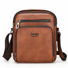 Adjustable Men's Faux Leather Handbag Briefcase Shoulder Messenger Bag Small