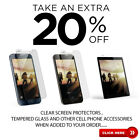 Premium Clear Screen Protectors or Tempered Glass for Samsung Galaxy J7 V