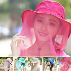 Outdoor Anti-mosquito Mask Hat Mesh Face Sun Protection Mosquito Head Net Rose