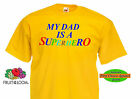 "Fruit Of The Loom ""My Dad is a Superhero""   Kids,Boys T shirts"