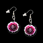 CHRYSANTHEMUM FLOWER 34009 button earrings necklace ponytail tie tacks pins new