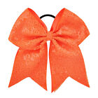 """21Color 8"""" Large Sequin Cheer Bows Elastic Bands Boutique Girls Ribbon Cheer Bow"""