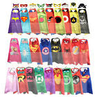 Superhero and Supergirls Costumes Birthday Capes with Masks Party Favor Cosplay