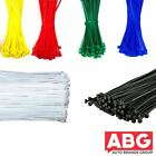 Plastic Cable Ties Zip Tie Wraps Black White Mixed - Small/Large Short/Long