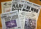 HARRY POTTER DAILY PROPHET FRONT PAGES 10 TO CHOOSE FROM ALL A3 IN SIZE