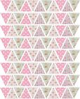 "88 x 1"" BUNTING FLAGS CATH KIDSTON FLORAL EDIBLE PRECUT ICING CAKE TOPPERS"