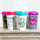 330ml Insulated Travel Mug Ceramic Reusable Double Walled Cup Coffee Tea Gift