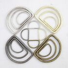 Metal D-Ring Welded , for straps, purses, bags, Choose quantity Size & color (usa)