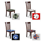 FC887 NEW SPORTS LOGO THEMED CAPPUCCINO ESPRESSO FINISH WOODEN DINING CHAIRS SET