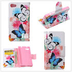 Beautiful Butterfly pattern Wallet Stand Leather Cover Case for various phone
