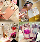 Girl's Mirror Cute Luxury Bling Diamond Crystal Soft Shockproof Phone Case Cover