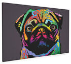 Pug Dog Box Canvas and Poster Print (127)