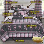Browning Buckmark Comforter + Optional Sheets & Accent Pillows (regular size)