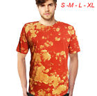 BRAND NEW - M&M Tie Dye Camo tee shirt - long tee men t-shirt acid wash rave