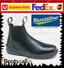 New Blundstone Mens Work Boots Black Shoes Safety Steel Toe Pull On 330 AU Size