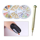 Colorful Bead Dangle Charms Studs Nail Drill 3D Nail Decorations Manicure Kit