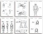 STAR WARS Patent Prints - Set of 6 - Unique quirky GIFT for Star Wars lovers