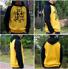 HOT!!!Anime One Piece Trafalgar Law Thick Jacket Hooded Casual Sweatshirt Hoodie