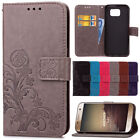 Luxury Clover Leather Card Wallet Flip Stand Case For Samsung Galaxy Note 3 4 5