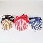 Pet Dog Cat Blue Red Brown Striped Baseball Cap Hat Summer Clothes Clothing S-L