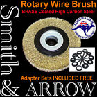 "8"" 200mm / 6"" 150mm ROTARY BRASS WIRE BENCH GRINDER STEEL BRUSH WHEEL METAL RUST"