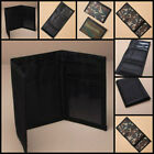 Mens Ladies Boys Girl Plain CANVAS Tri-Fold Velcro WALLET Choice of  Colours NEW