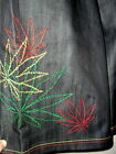 NWT VICTORIOUS DENIM JEAN SHORTS W marijuana leaf embroideries  4 SIZES