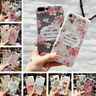 For iPhone X XS Max XR 8 5 6s 7 Plus Flower Letters Case Cute Soft Rubber Cover