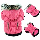 US Small Dog Pet Warm Cotton Jacket Coat Hoodie Puppy Winter Clothes Pet Costume