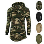 2017 Men Casual T-Shirts Long Sleeve Camouflage Slim shirt Hooded Pullover Tops