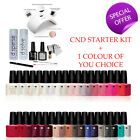 CND Shellac Complete Gel Polish Starter Kit + Lamp & ANY 1 COLOR - 100% Genuine