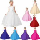 Girls Party Flower Formal Wedding Bridesmaid Pageant Prom Christening Dress New