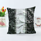 Retro Black White floral printing Cushion Cover Throw Pillow Case Sofe Bed Decor