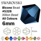 Swarovski 6mm Bicone #5328– Genuine Swarovski Crystal Bead – all colours