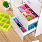 4pcs DIY Tie Drawer Organizer Makeup Divider Home Storage Box Container