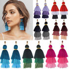 Fashion Bohemian Earrings Women Long Tassel Fringe Boho Dangle Earrings Jewelry