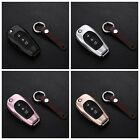 Key Cover For Chevrolet Folding Key Fob Aluminum Metal Genuine Leather Key Case