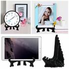 "3""-11"" Clear/Black Display Easel Stand Plate Bowl Frame Photo Pedestal Holder"