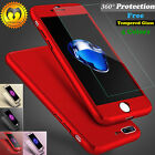 Ultra Thin Slim Hard Case Cover For Apple iPhone 6 6S 7 / Plus + Tempered Glass