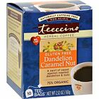 Teeccino Chicory Herbal Tea Dandelion Caramel Nut -- 10 Tea Bags
