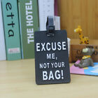 Silicon Lovely Cartoon Travel Luggage PVC Tags Name ID Bag Label Baggage Mark