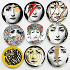 """Goregous Copy Fornasetti Plates Nordic Wall Hanging 8"""" Dishes Ceramic Craft Deco"""