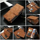 Genuine Leather Case Cover Zipper Wallet Card Multifunction For iPhone 6S Plus