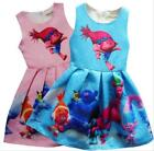 Girls Kids Princess Poppy Trolls Sleeveless Party Holiday Birthday Dress O32 image
