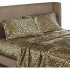 Easy Care Leopard Satin Fitted Sheet / Pillowcase