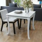 vidaXL Square Kitchen Breakfast Dining Cafe Table High Gloss White MDF 2 Sizes