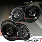 For 2001-2004 Mercedes W203 C Class Projector Headlights Black Style Pair